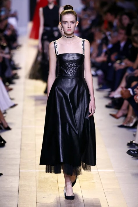 The dress first appeared on the Christian Dior runway at Paris Fashion Week.