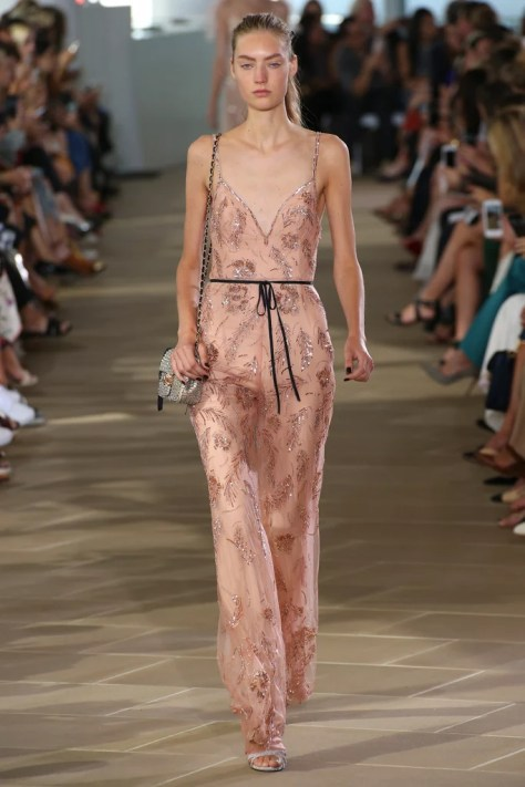 The Monique Lhuillier Spring 2017 collection was revealed during New York Fashion Week on Sept. 13.