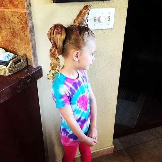A Magical Unicorn Crazy Hair Day Ideas POPSUGAR Moms