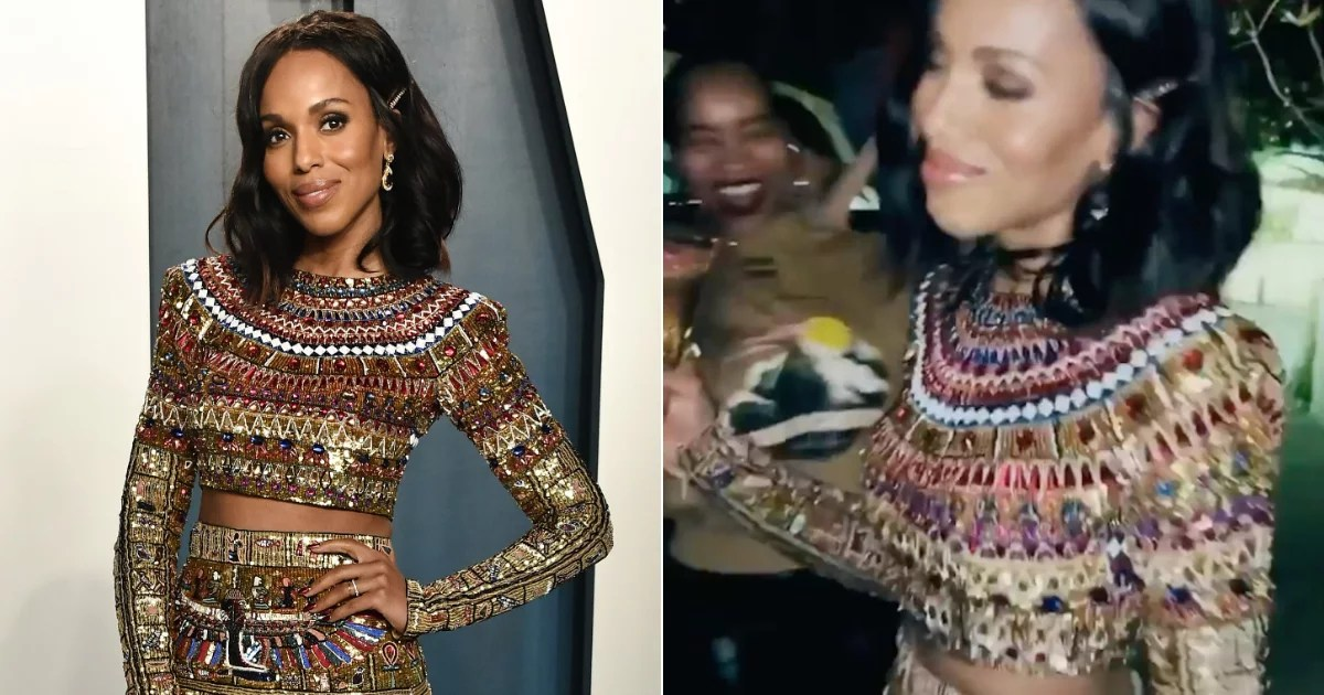 """Kerry Washington's Modern Cleopatra Look Deserved All the """"Mat Talk"""" From Her Glam Squad"""