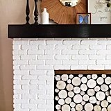 Faux-Log Fireplace Screen