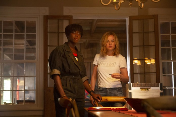 Marvel Studios' CAPTAIN MARVEL..L to R: Maria Rambeau (Lashana Lynch) and Carol Danvers/Captain Marvel (Brie Larson), ..Photo: Chuck Zlotnick..©Marvel Studios 2019