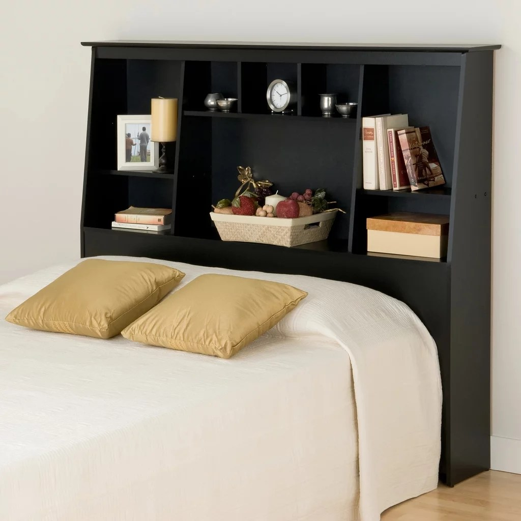 Tall Slant Back Bookcase Headboard Best Small Space