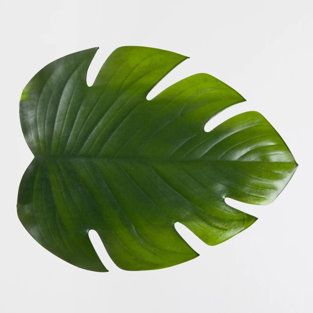 Channel A Tropical Vibe With These Palm Leaf Place Mats