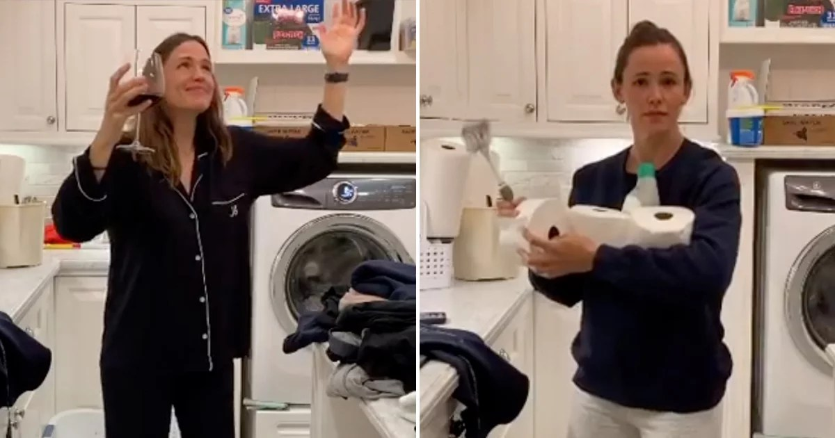 How'd Jennifer Garner Know the World Needed This Laundry-Room Dance Video Right Now?