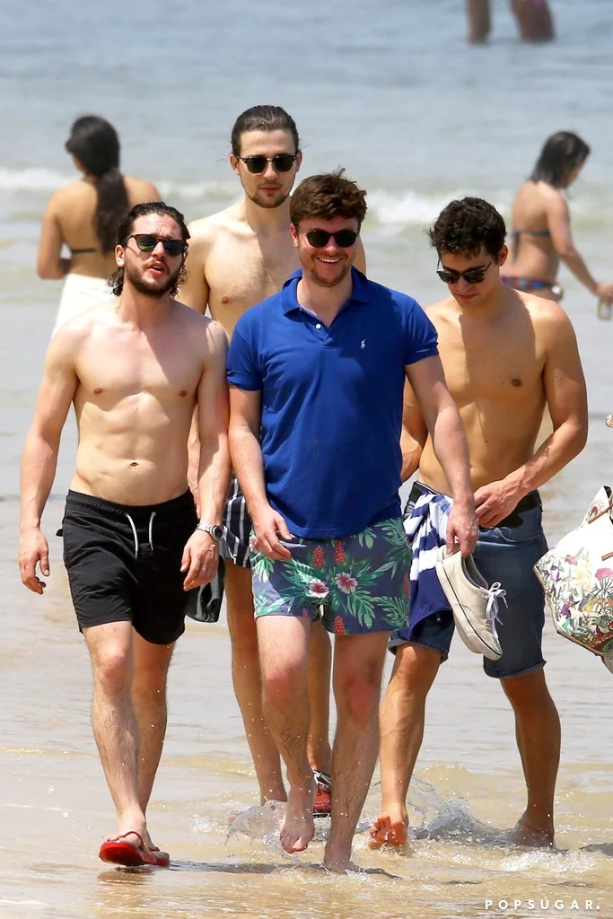 Kit Harington Shirtless On The Beach In Brazil Pictures