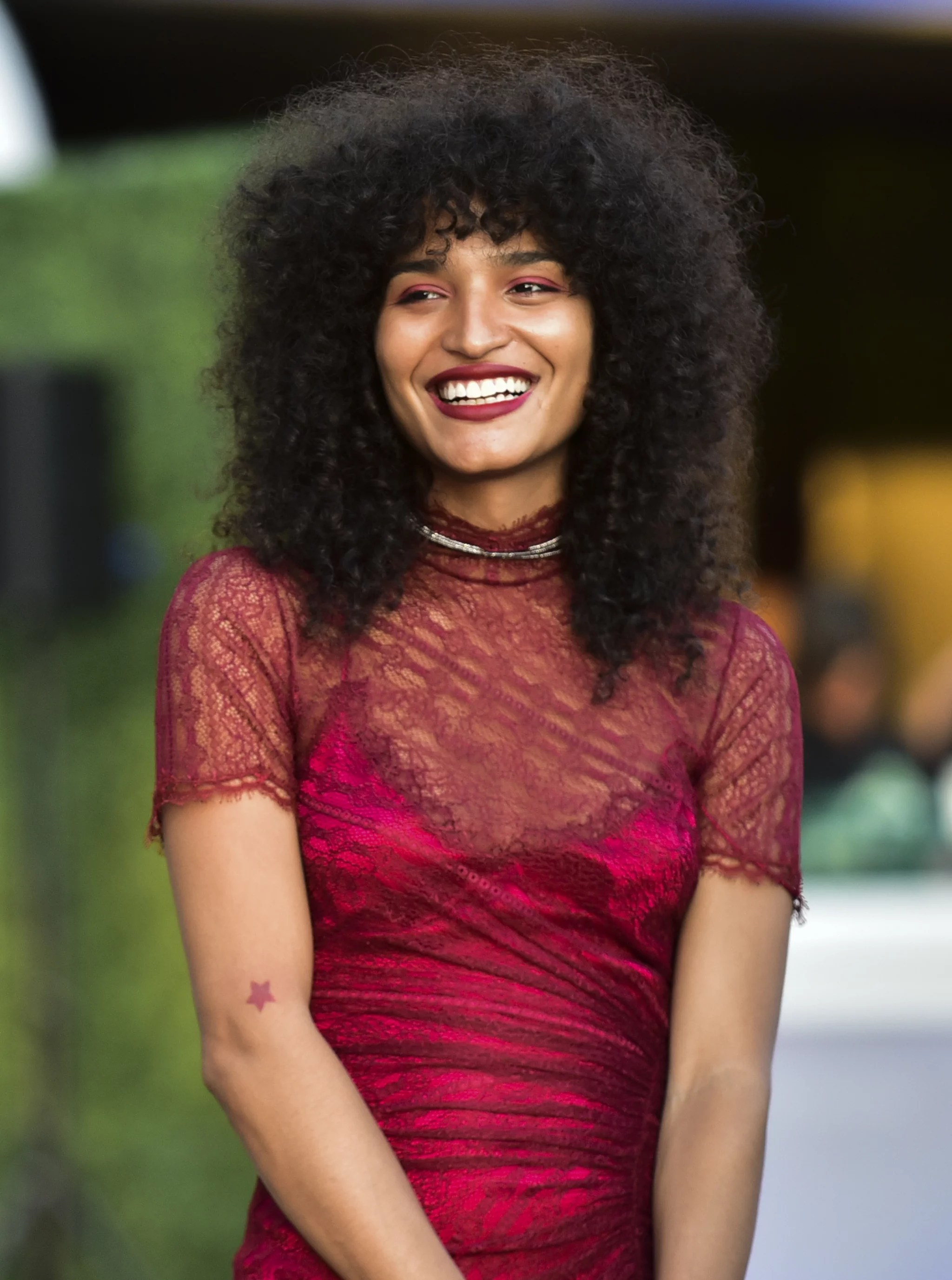 WEST HOLLYWOOD, CALIFORNIA - AUGUST 09: Indya Moore attends the red carpet event for FX's