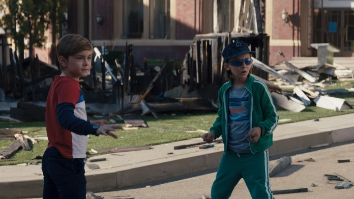(L-R): Julian Hilliard as Billy and Jett Klyne as Tommy in Marvel Studios' WANDAVISION exclusively on Disney+. Photo courtesy of Marvel Studios. ©Marvel Studios 2021. All Rights Reserved.