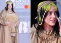 Billie Eilish Matches Her Burberry Outfit to Her Nails and Bonnet For the BRIT Awards