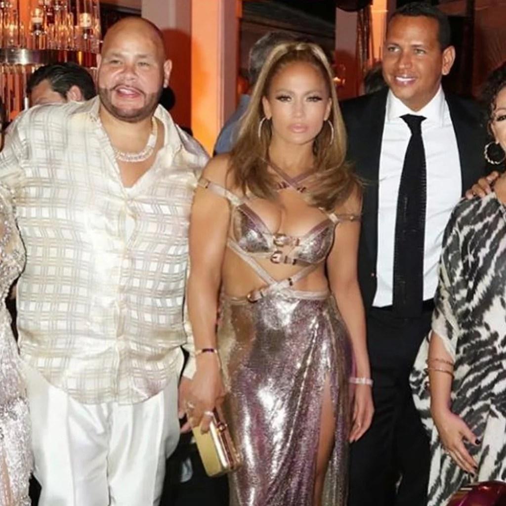 Jennifer Lopez S 50th Birthday Party Dress Popsugar Fashion
