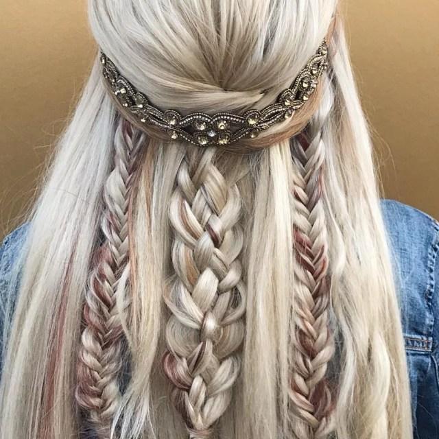 boho wedding hair | popsugar beauty