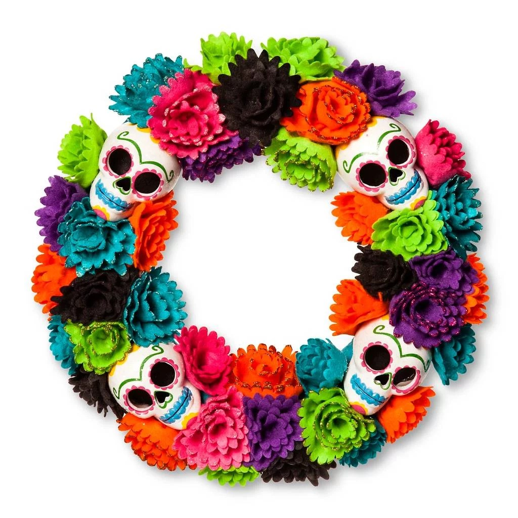 Day Of The Dead Wreath 20