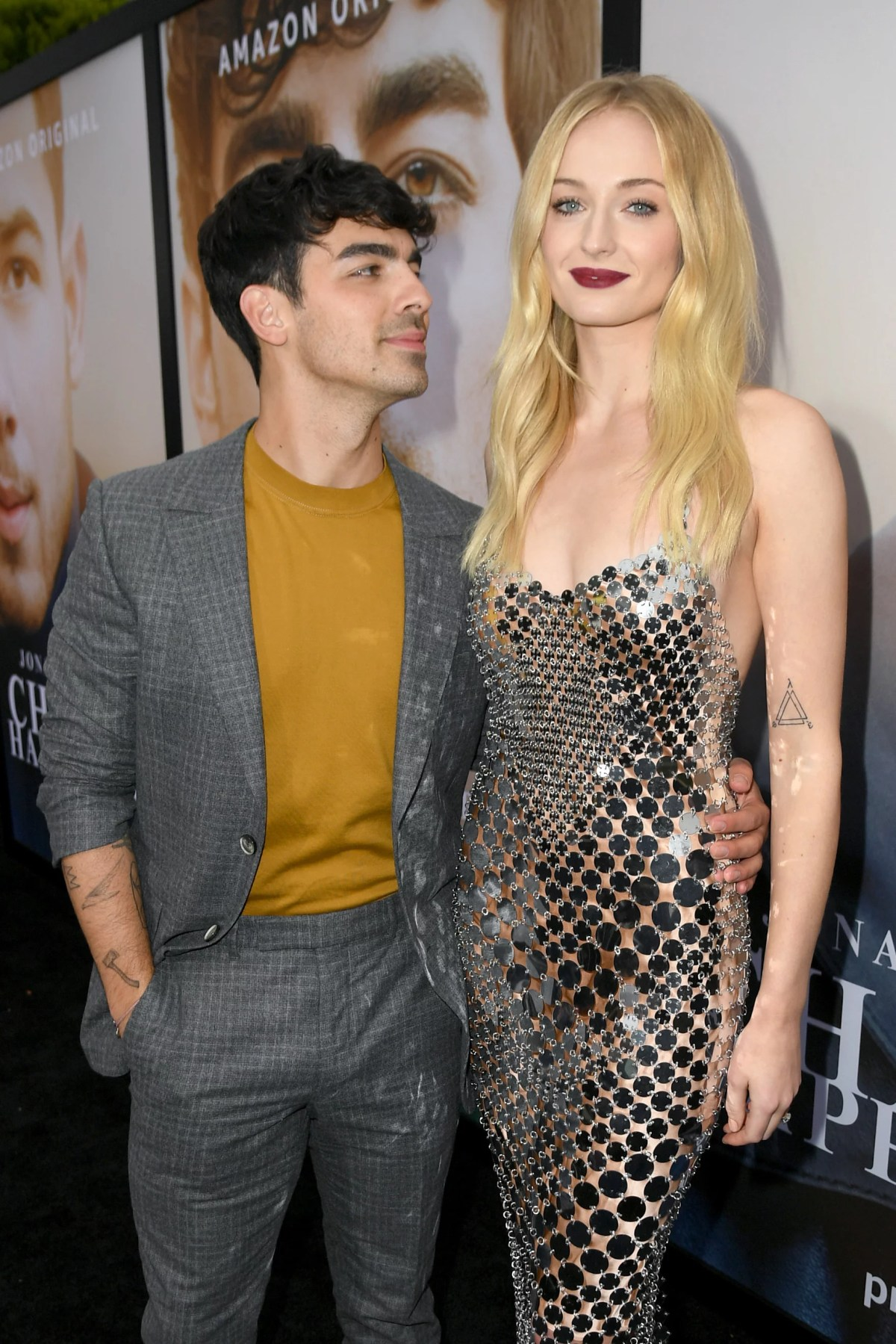 LOS ANGELES, CALIFORNIA - JUNE 03: Joe Jonas (L) and Sophie Turner attend the Premiere of Amazon Prime Video's 'Chasing Happiness' at Regency Bruin Theatre on June 03, 2019 in Los Angeles, California. (Photo by Kevin Winter/Getty Images)