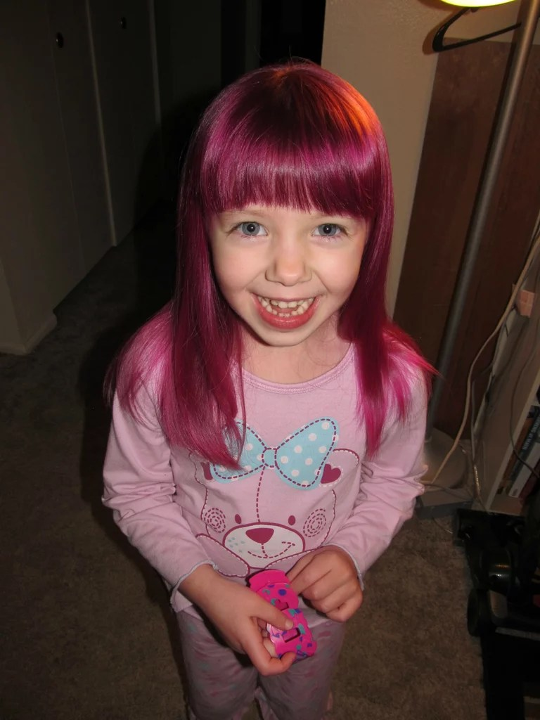 The Most Fashionable 4 Year Old Ever Rainbow Hair Color