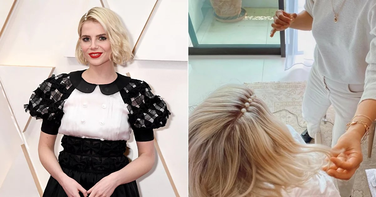 Lucy Boynton Once Again Proved She's Incapable of Being Boring With a Pearl-Lined Part at the Oscars