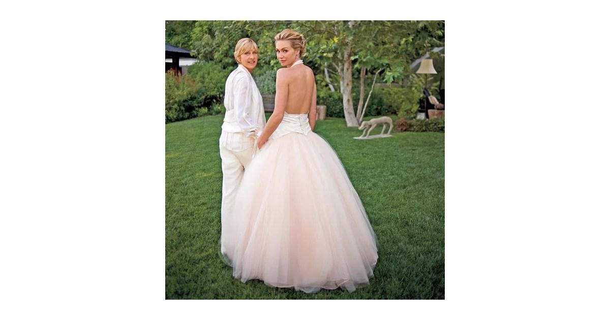 Ellen DeGeneres's Zach Posen Suit And Portia De Rossi's