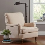 Ravenna Home English Rolled Arm Nailhead Trim Accent Chair Amazon Is Dropping Another Affordable Home Line And It Arrives In Just 2 Days Popsugar Home Photo 3