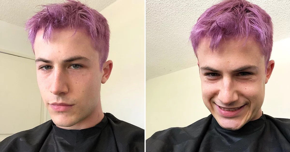 Dylan Minnette Just Dyed His Hair Lilac, and Wow, He Can Really Pull Off Any Color
