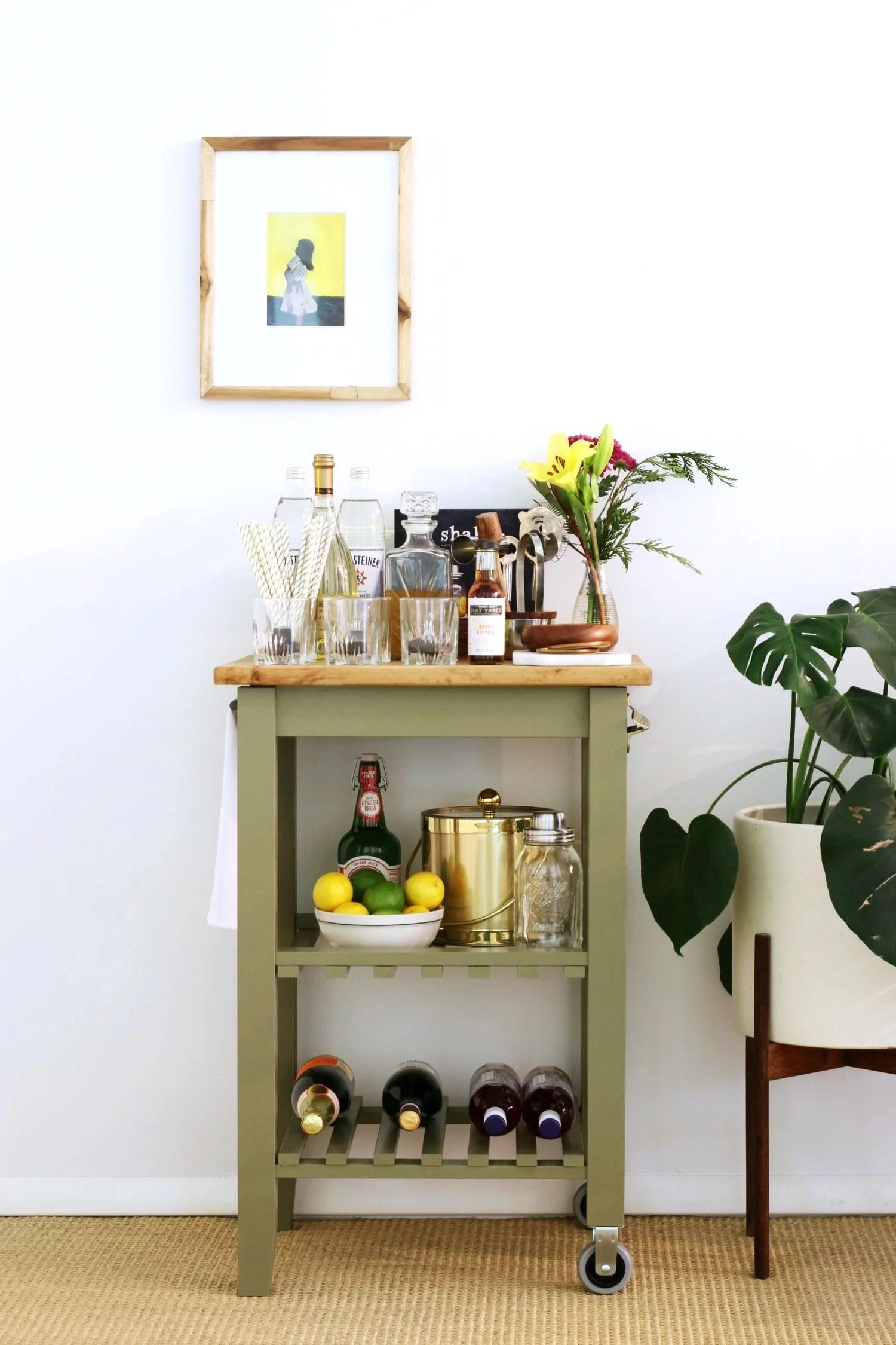 Ikea Kitchen Bar Cart Hack Popsugar Home