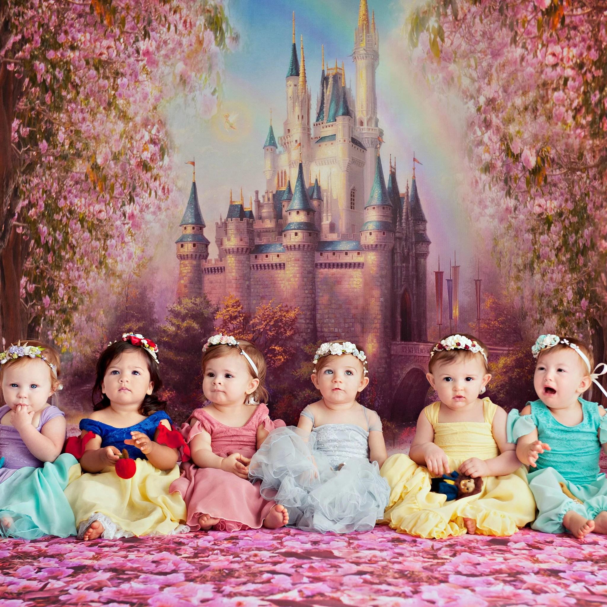 Babies Dressed As Disney Princesses For Cake Smash Photos Popsugar Family