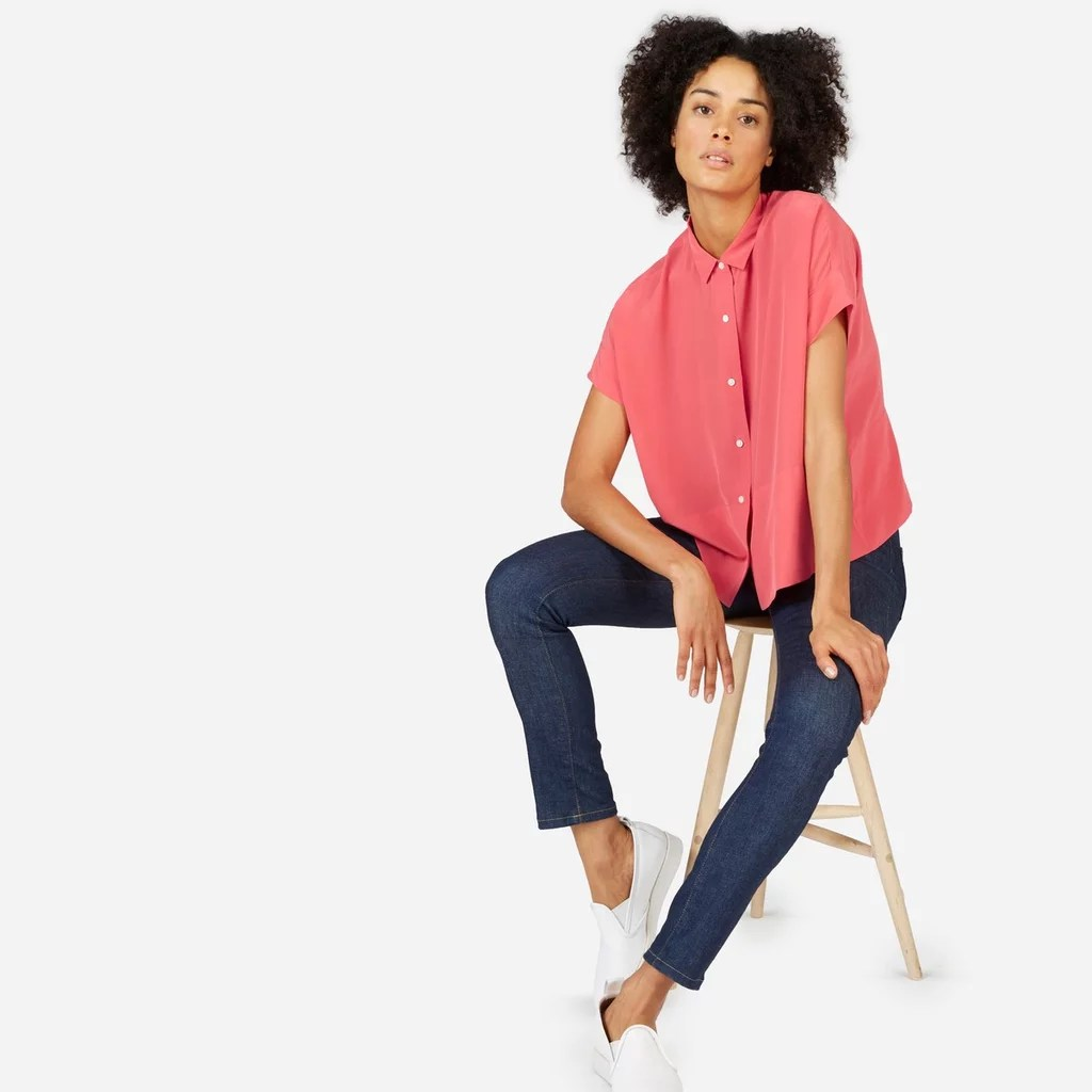Everlane Silk Square Shirt