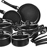 AmazonBasics 15-Piece Non-Stick Kitchen Cookware Set