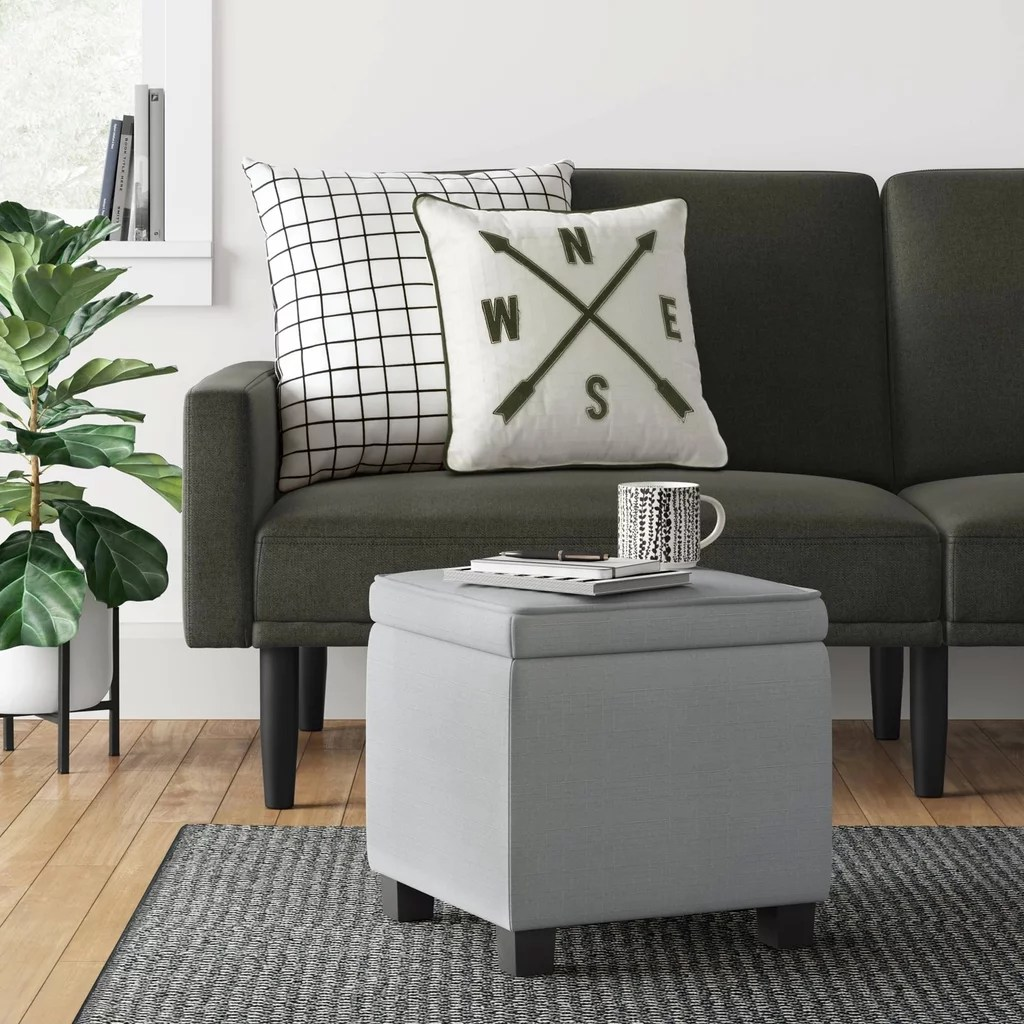 storage ottoman with tray table make