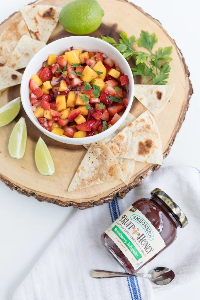 Fruit & Honey Salsa With Homemade Chips