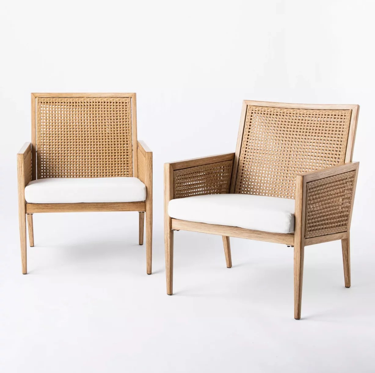 faux wood patio accent chairs
