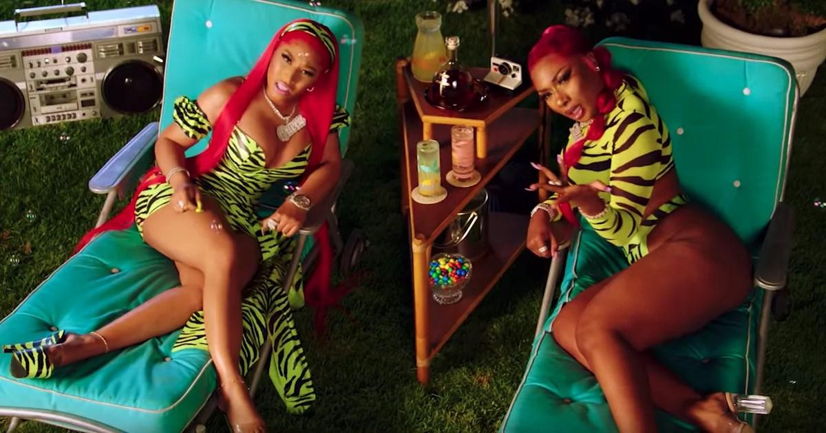 Decorative Image of Nicki Minaj and Megan Thee Stallion depicting an artist that song embodies hot girl summer