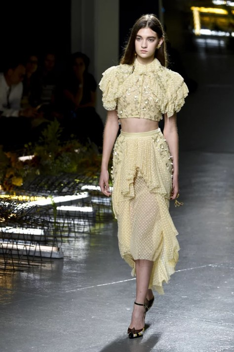 The edgy, yet feminine, Spring look was spotted on the Rodarte runway just a few short weeks ago!