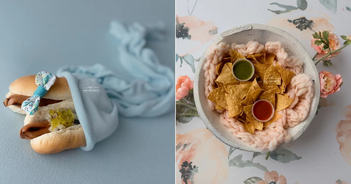Bored Newborn Photographer Takes Portraits of Food as Infants, and We Are Here For This Content