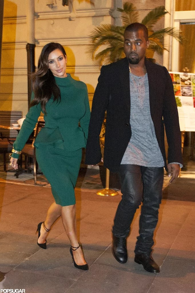 Kim Kardashian And Kanye West In Rome Pictures