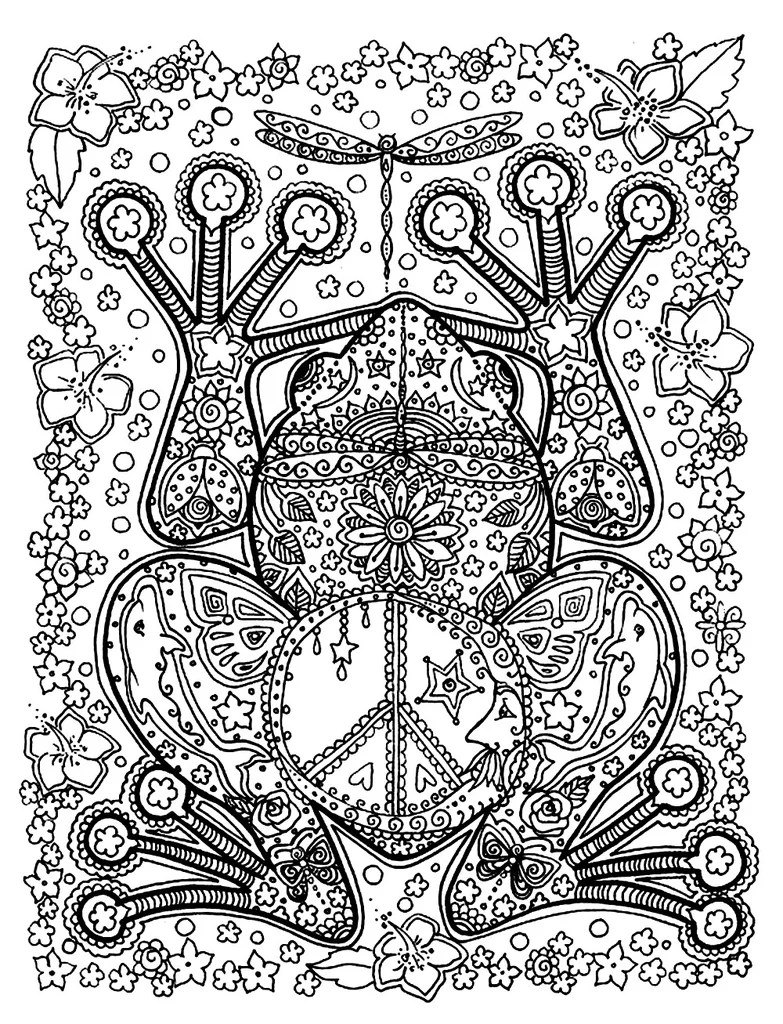 Get The Coloring Page Frog Free Coloring Pages For Adults