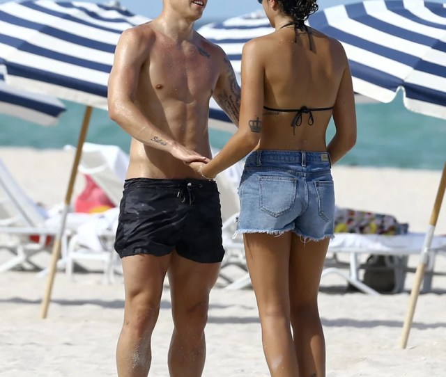 James Rodriguez And His Wife Daniela Ospina In Miami Beach