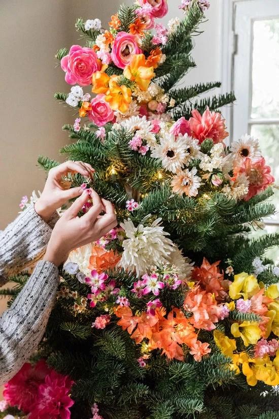 Floral Christmas Trees POPSUGAR Home