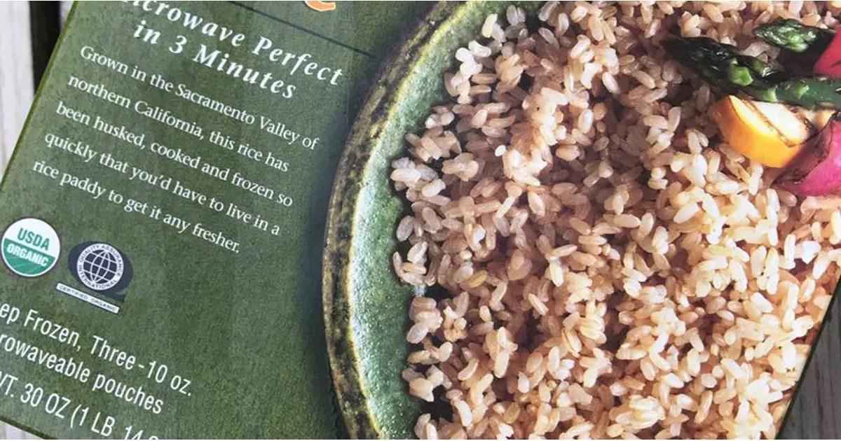 trader joe s frozen brown rice