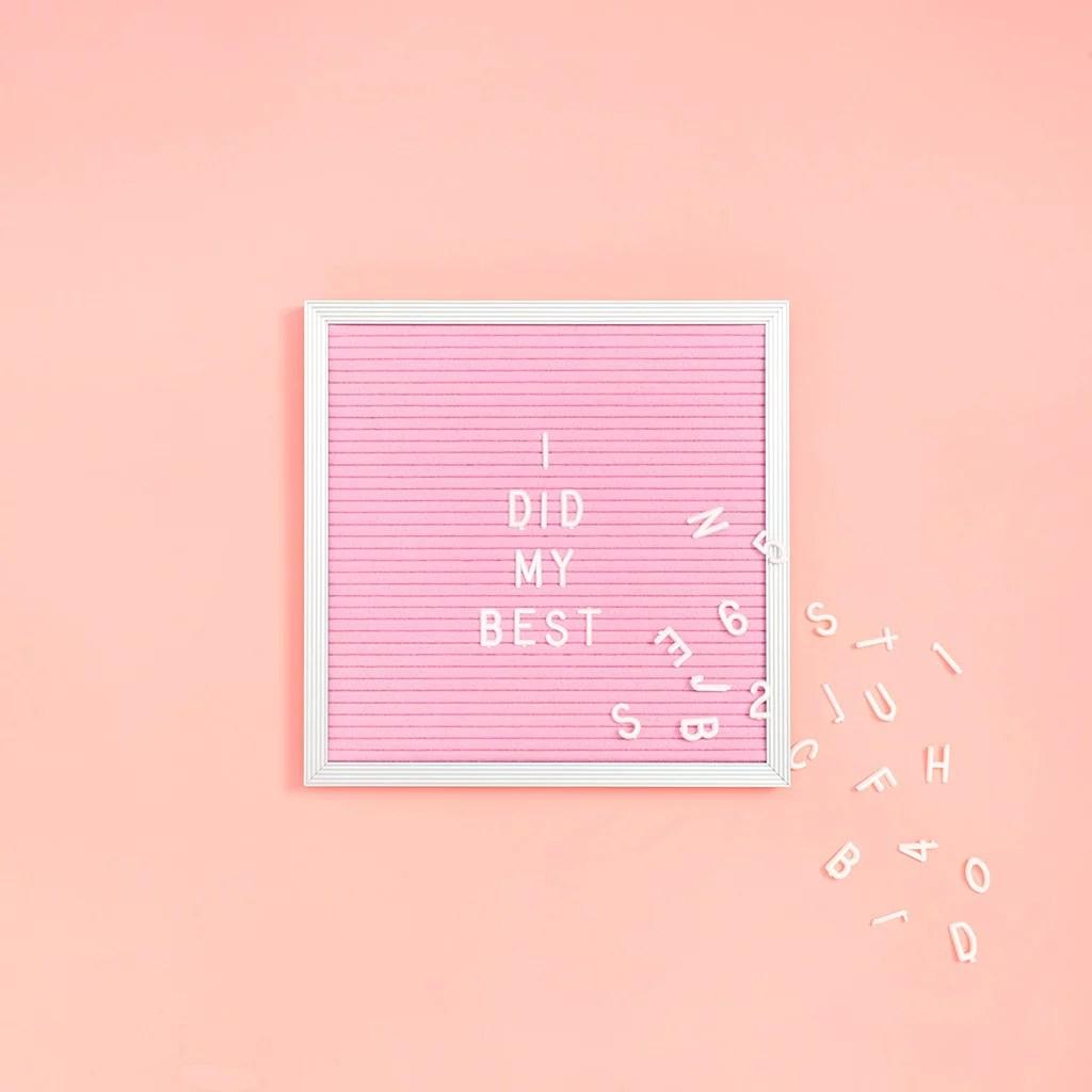 Square Pink Felt Letter Board