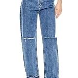 Sandro Fluffy Straight Leg Jeans