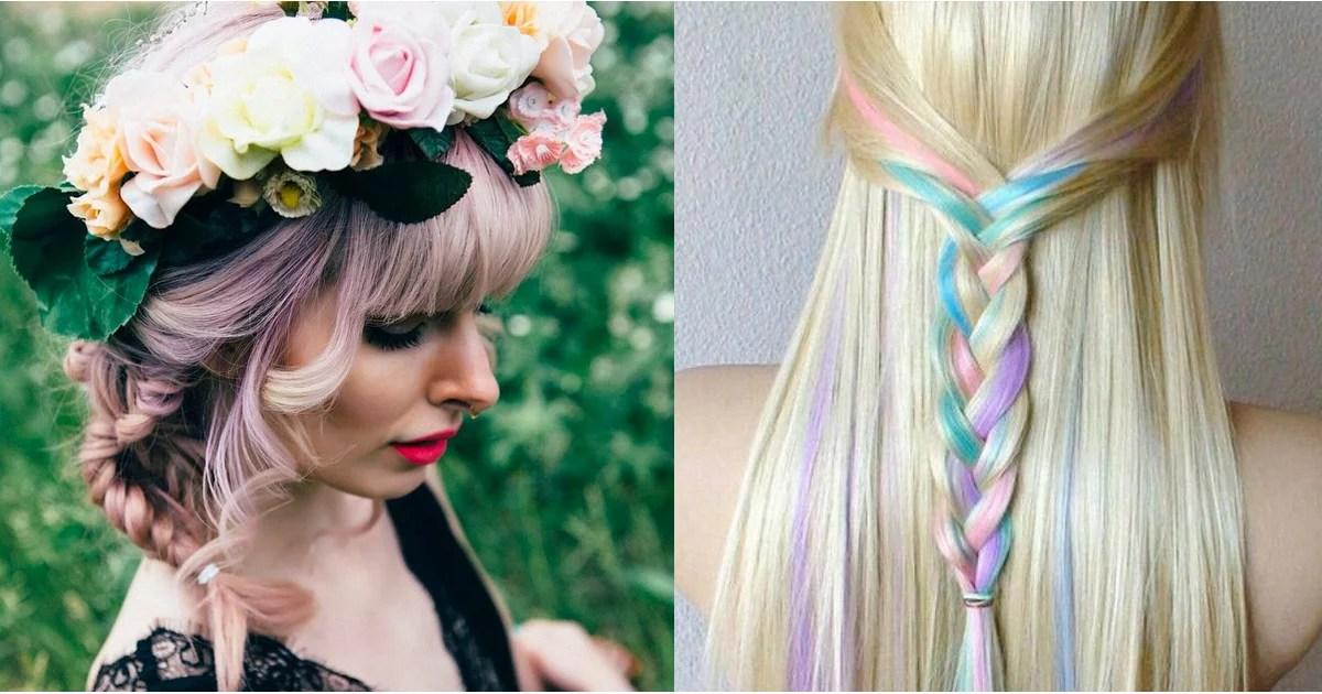 Rainbow Hair Braid Ideas POPSUGAR Beauty