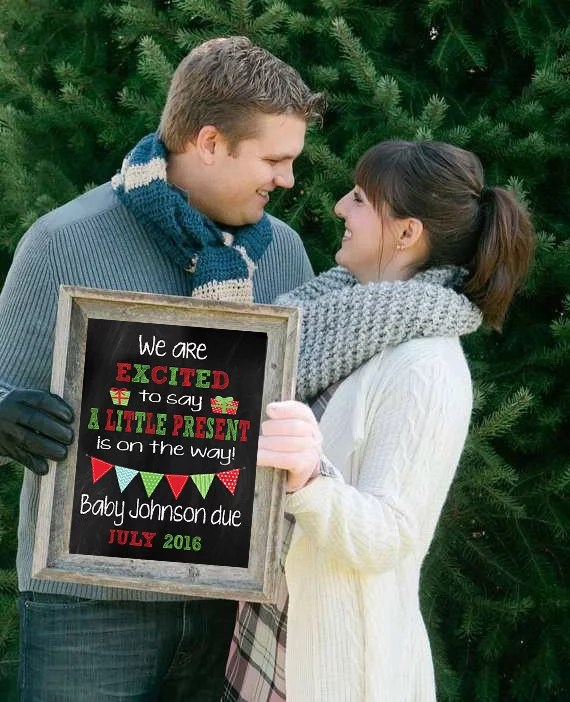 Early Present Printable Pregnancy Announcement Cute