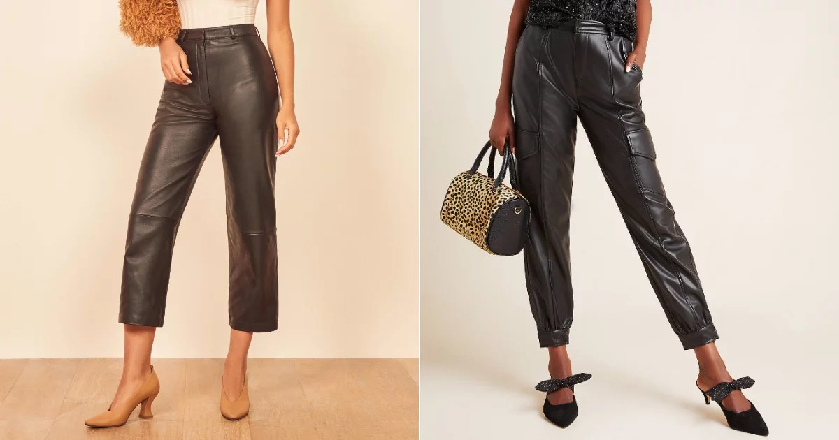14 Cool Leather Pants You Can Wear to Work, on Date Night time, and Everywhere Else in Life