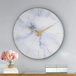 Newhill Round Marble Wall Clock Best Home Decor From Amazon Popsugar Home Australia Photo 50