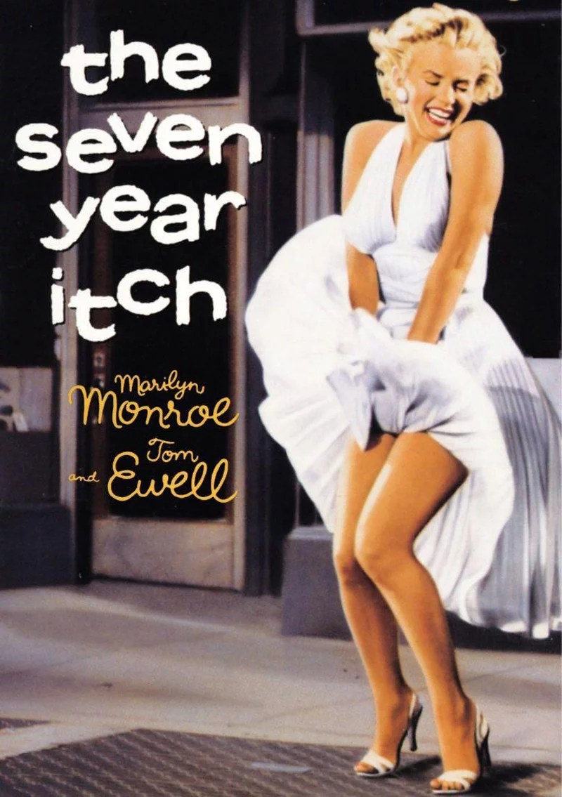 vestidos de películas de Hollywood a Marilyn Monroe en The Seven Year Itch