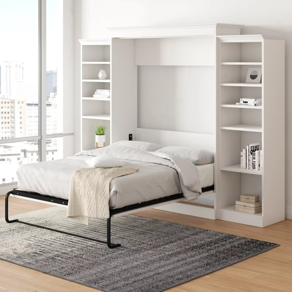 Canora Grey Barham Cube Queen Murphy Bed With Mattress Small Room These 17 Space Saving Beds Are The Solution You Ve Been Waiting For Popsugar Home Photo 14
