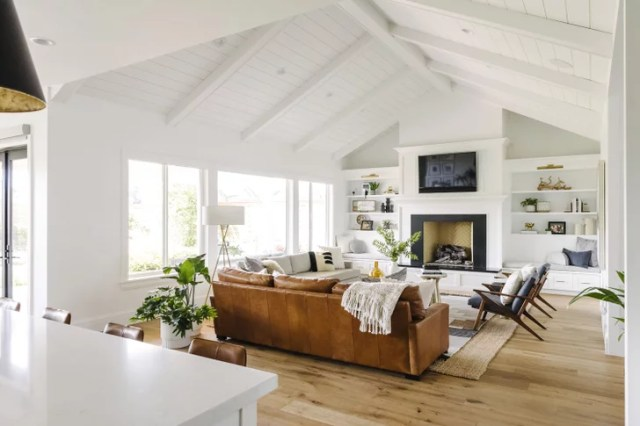 Modern Farmhouse Living Room Zoom Background | Download ...