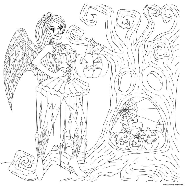Halloween Goth Fairy Printable  29+ Printable Halloween Pages to