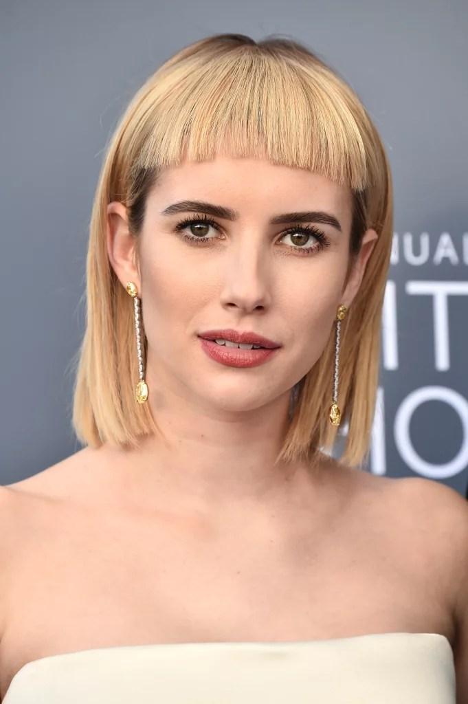 Emma Roberts Hair At The 2018 Critics Choice Awards