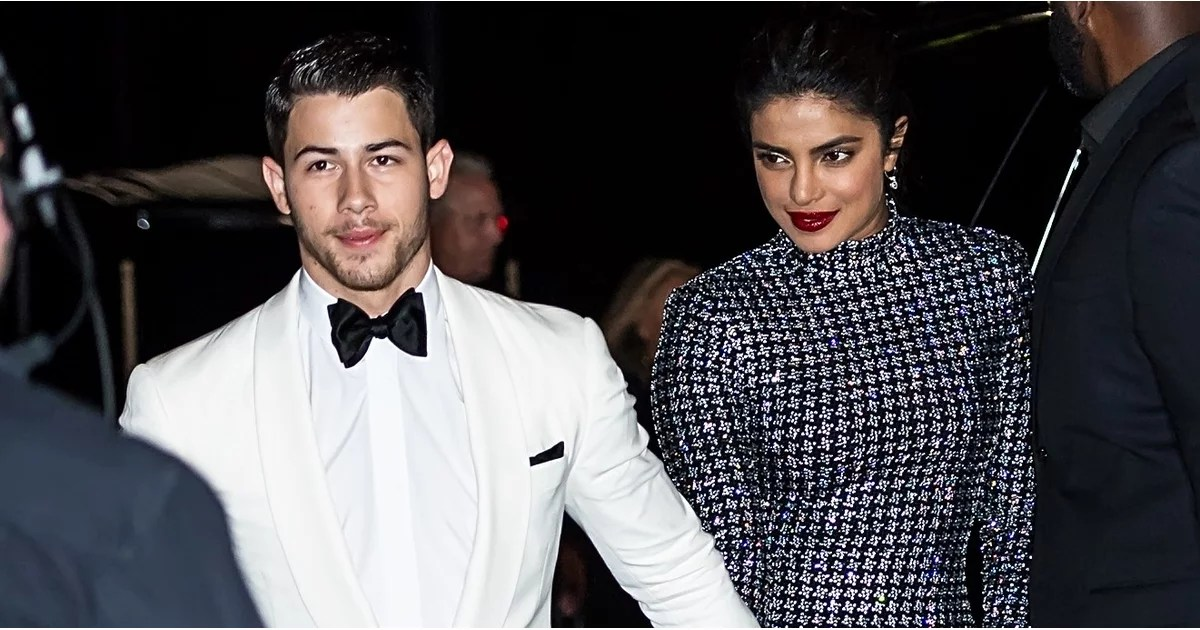 Priyanka Chopras Black Dress With Nick Jonas Fashion Week
