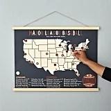 Baseball Stadium Screen Print Map